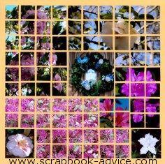 Mosaic Scrapbook Layout Kit using Yellow Grid Paper