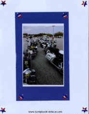 Motorcycle Competition Scrapbook Layout Ideas