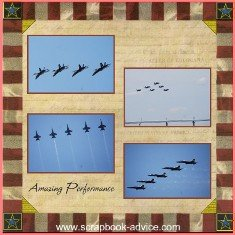 U S Navy Blue Angels Scrapbook Layout