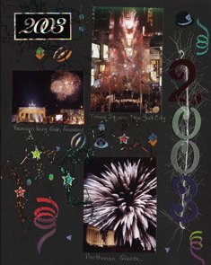 New Year Scrapbook Layout for First Page of Album