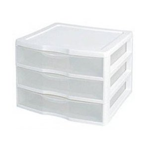 Scrapbook Paper Storage in Sterlite Drawers