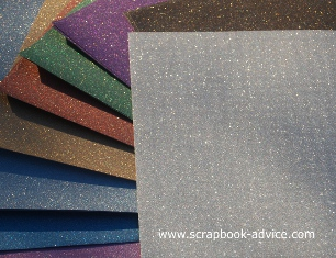 POW Glitter Paper Assorted Colors