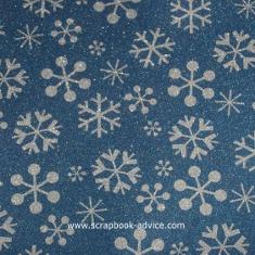POW Glitter Paper Denim Snowflakes