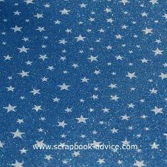 POW Glitter Paper Denim Stars