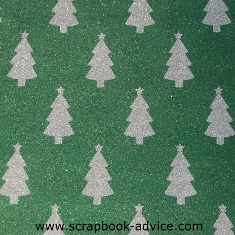 POW Glitter Paper in Evergreen with Christmas Trees