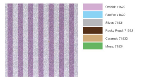 POW Gitter Paper from American Crafts Stripes Pattern