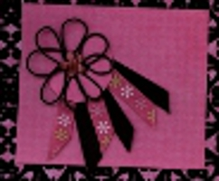 Scrapbook Embellishment with DMC Memory Fiber