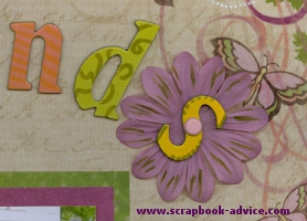 Scrapbook Brads used to attach chipboard letters