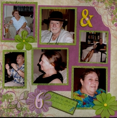 Personal Shopper Scrapbook Layout Aug 09