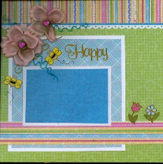 Scrapbook Layout with DMC Memory Thread