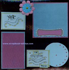 Scrapbooking Brads used in several ways on a scrapbook layout