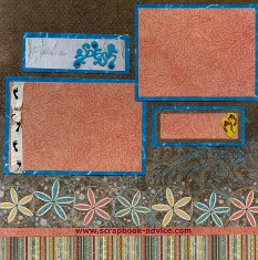 Scrapbook Layout with Brads for Scrapbooking