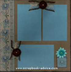 Pearl Brads for Scrapbooking to accent the patterned paper