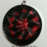 Pendant Jewelry Round made with Pearl Paints