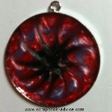 Pendant Jewelry Round made with Pearl Lacquer Paint
