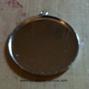 "Jewelry Pendant 1&1/2"" Diameter Round Silver"