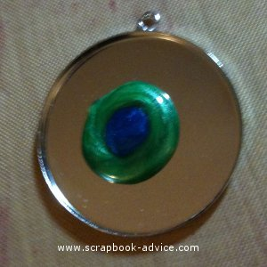Jewelry Pendant with 2 colors of Pearl Lacquer