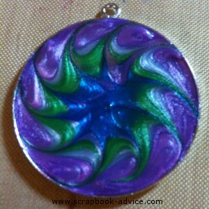 Round Jewelry Pendants completed from jewelry starter Kit