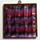 Pendant Jewelry Square made with Pearl Lacquer Paint