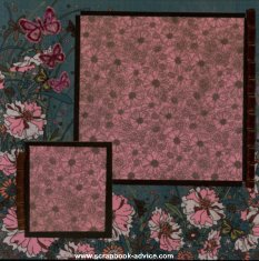 Personal Shopper scrapbook layout with floral papers and ribbons