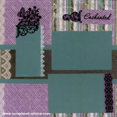 Personal Shopper Scrapbook Layouts