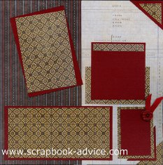 Personal Shopper Scrapbook Layout Sep 2011 Masculine or Heritage