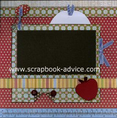 Personal Shopper Scrapbook Layout Sep 2011 Back to School Layout