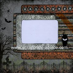 Personal Shopper Scrapbook Layout Sep 2011 Halloween Layout