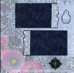 Personal Shopper Scrapbook Layout using Color Me Paper in Silver