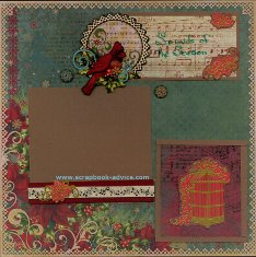 Personal Shopper Scrapbook Layout November 2011