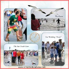 PolarBear Plunge Scrapbook Layout using digital software