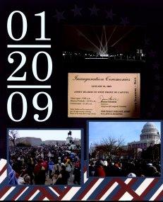Obama Inauguration Scrapbook Layouts