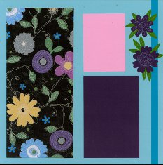 Scrapbook Layout using Post-It Craft Paper