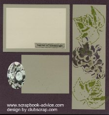 Club Scrap Sonoma Scrapbook Layout with Stencil