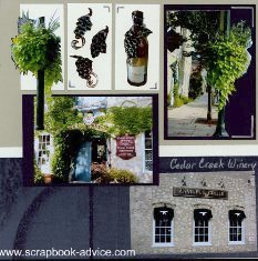 Club Scrap Sonoma Cedar Creek Winery Scrapbook Layout