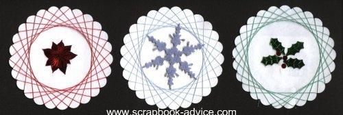 Spirella Designs & Tutorial String Art Scrapbook Embellishments
