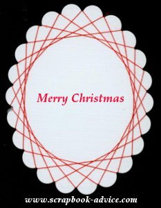Spirella Design with Red Thread & Merry Christmas Stamped in the center