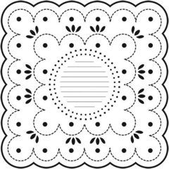 Crafter's Workshop Templates 12-Inch by 12-Inch, Dotted Scallop 	 Crafter's Workshop Templates 12-Inch by 12-Inch, Dotted Scallop