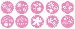 Pebbles Inc. Chalk Stencils 10/Pkg Flowers
