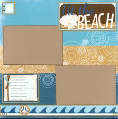 Storytellers Scrapbook Page Kit Beach