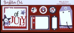 Storytellers Scrapbook Page Kit July 4