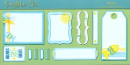 Storytellers Scrapbook Page Kit Water