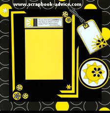 Scrapbook Layout with Shaped Brads for Scrapbooking