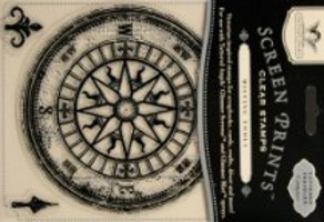 Tattered Angels Compass Rose Clear Stamp