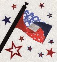 Iris Folding Flag