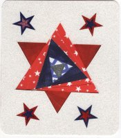 Paper Crafting Iris Folding Star for use in Scrapbook Layouts and Hand Made Card Fronts