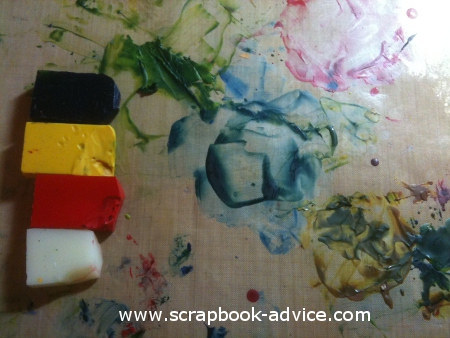 Encaustic Wax Tutorial  from the Encaustic Wax scrapbook tutorial