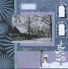 Winter Scene Scrapbook Layout Glimmer Mist