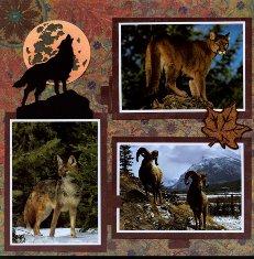 Yellowstone Park Scrapbook Layout
