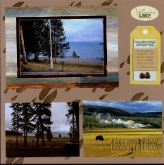 Yellowstone National Park Scrapbook Layout Ideas